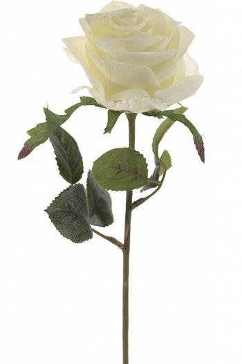 Witte kunstroos Simone 45 cm