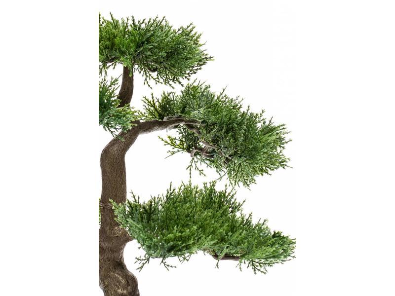 Kunst bonsai cedar 34cm in pot