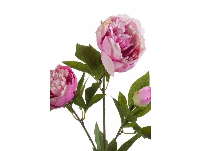 Kunstbloem pioenroos roze 70cm