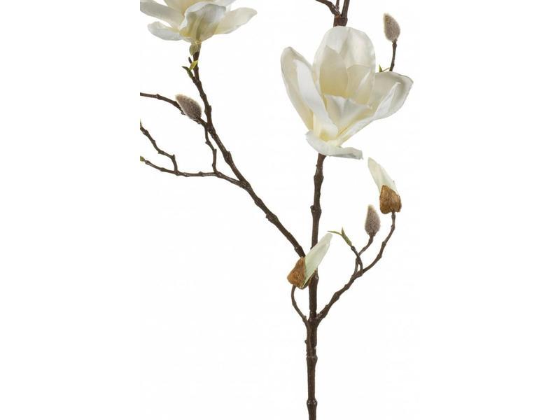 Kunstbloem magnolia wit 90cm