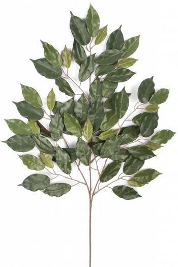 Kunstblad Fat Ficus 40 cm rood brandvertragend