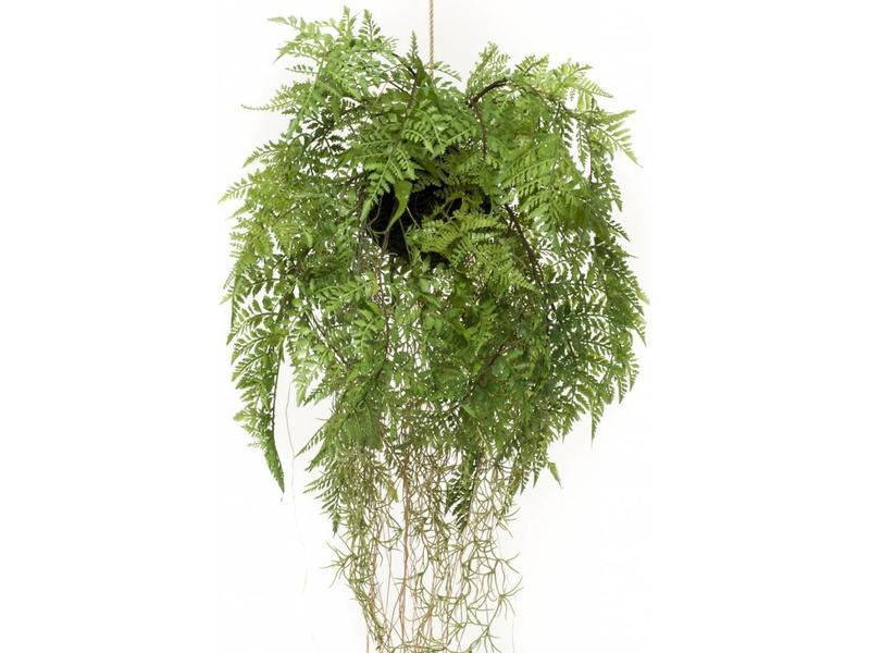 Kunst varen hangplant met wortels d35cm