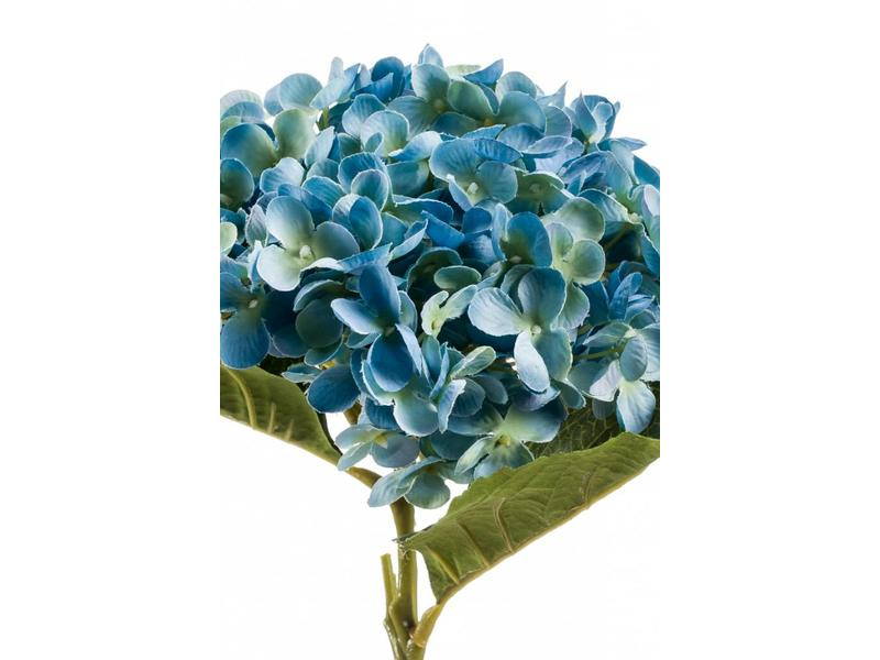 Hortensia kunstbloem blauw 52cm