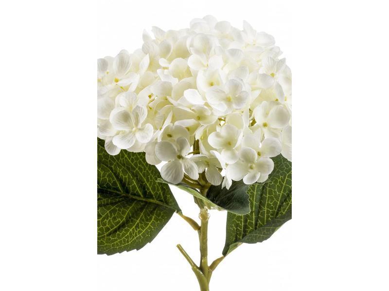 Hortensia kunstbloem wit 52 cm