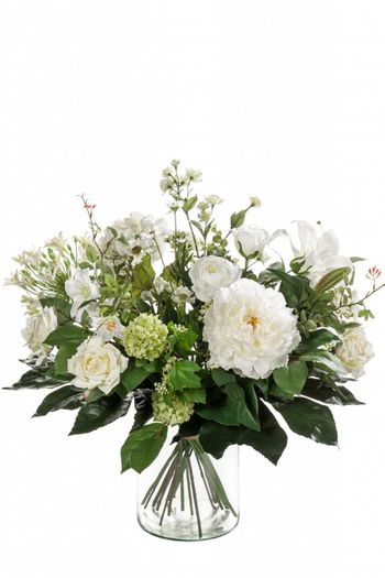 Boeket kunstbloemen White Dream