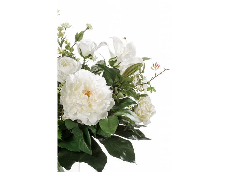 Boeket kunstbloemen White Dream 60 cm