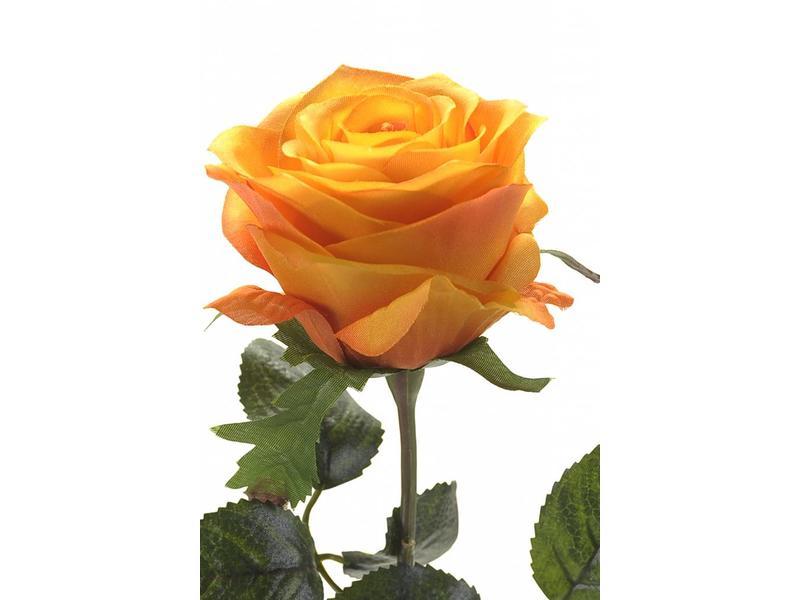 Oranje kunstroos Simone 45cm