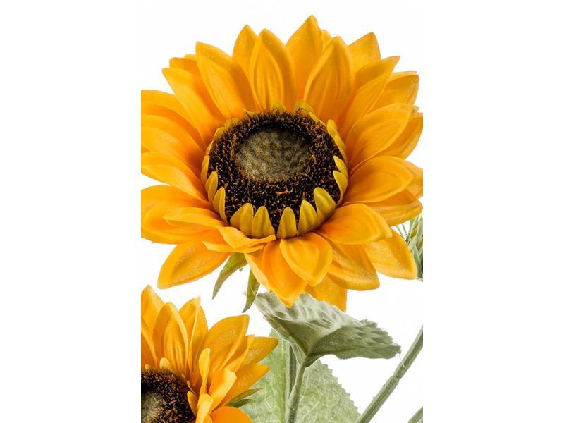 Kunst zonnebloemen 62cm