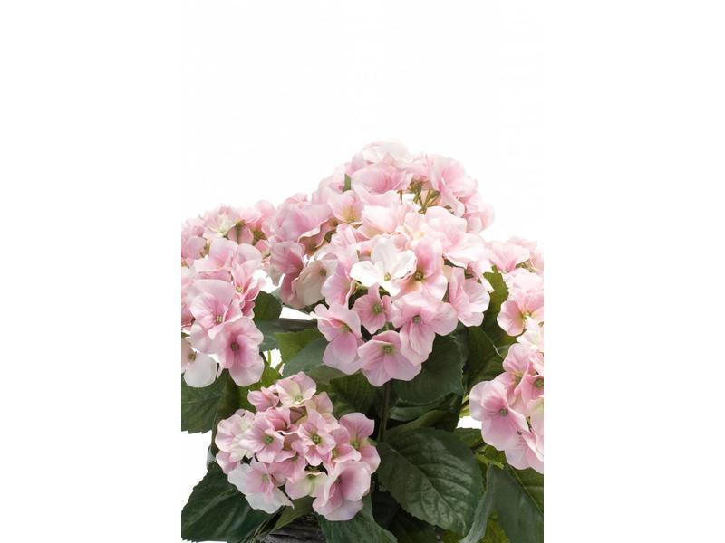 Kunstplant hortensia roze 45 cm