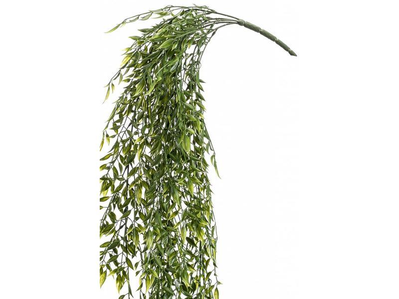 Kunst hangplant bamboe mix 80cm