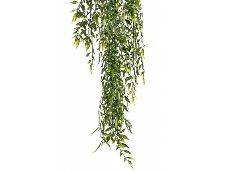 Kunst hangplant bamboe mix 80cm UV