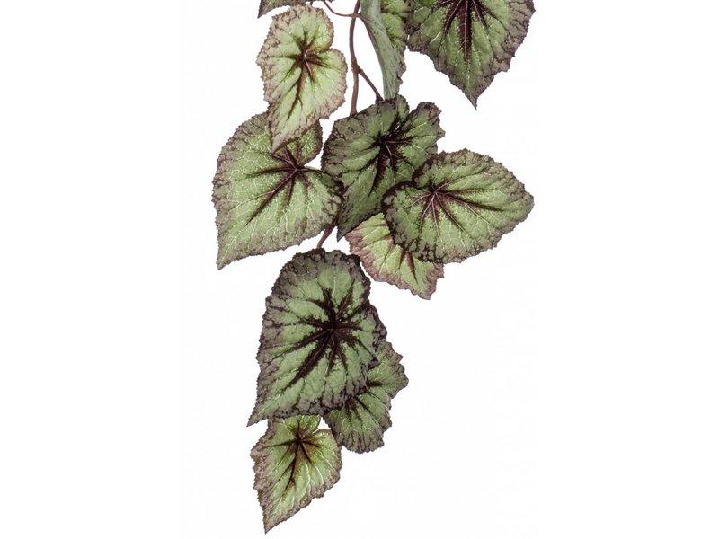Kunst hangtak Begonia 110cm grijs/paars