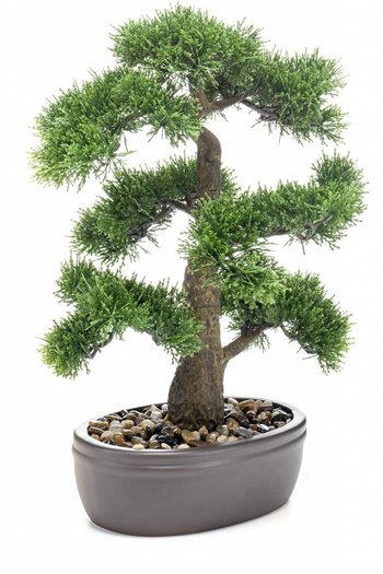 Kunst bonsai Cedar 45cm in pot