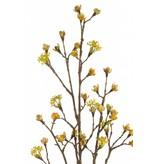 Kunst Esdoorn fruit tak 110cm geel