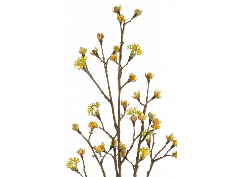 Kunst Esdoorn fruit tak 110 cm geel