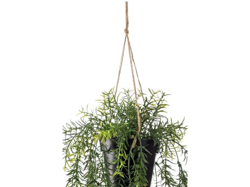 Kunst Asparagus hangplant 50 cm in pot
