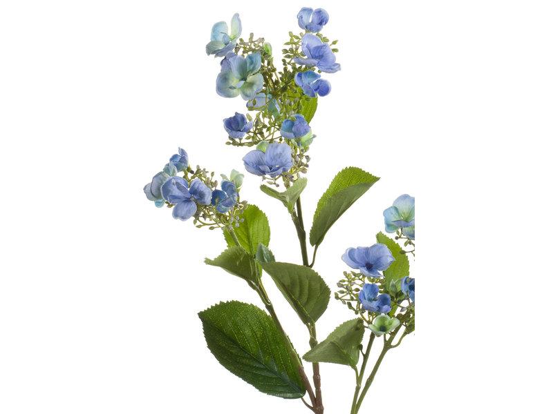 Kunstbloem Hortensia 75cm blauw