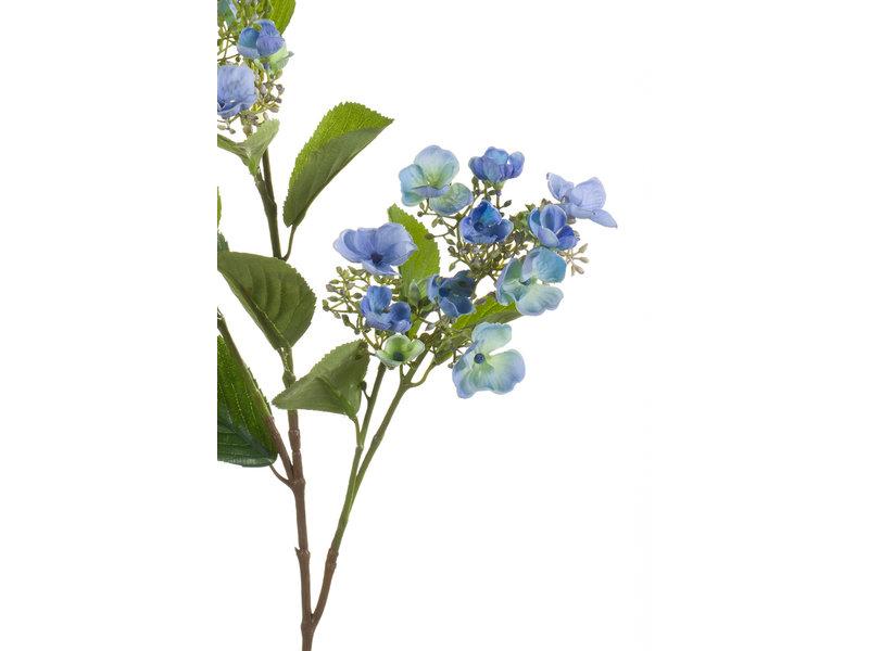 Kunstbloem Hortensia 75 cm blauw