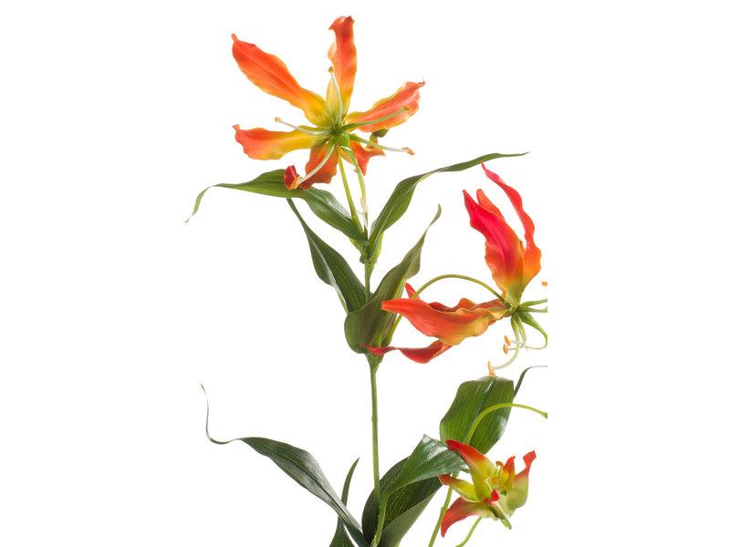 Gloriosa kunstbloem 75 cm oranje
