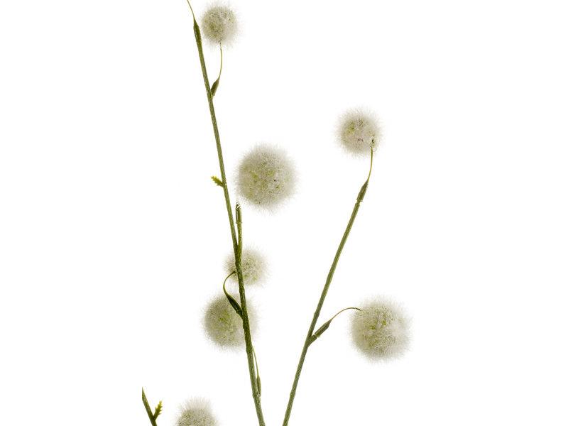 Kunstbloem Pompom 80 cm wit