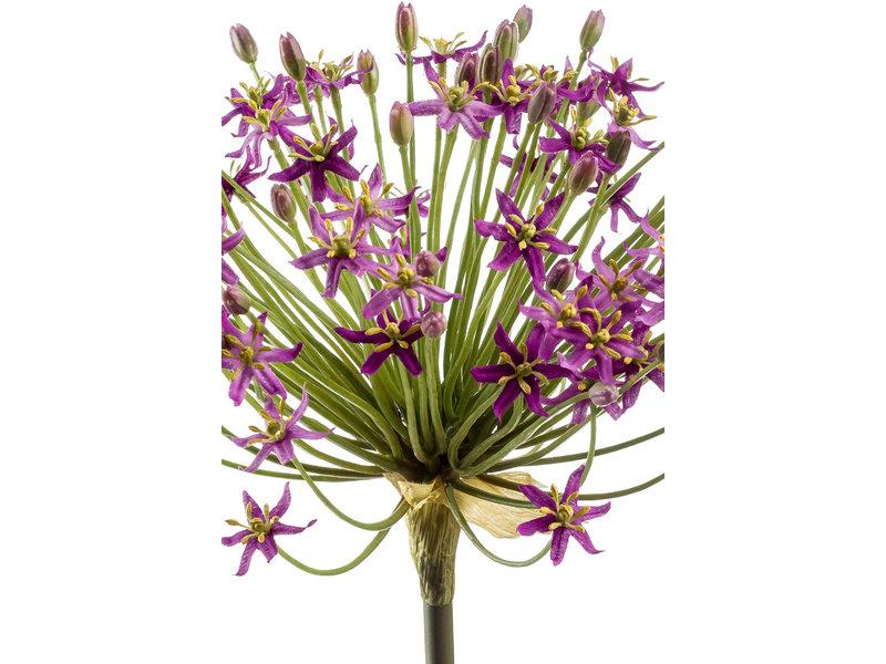 Kunstbloem Allium 90cm paars