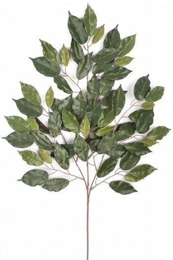 Kunstblad Fat Ficus 75 cm groen