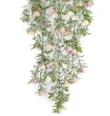 Kunst hangplant Rose 75 cm