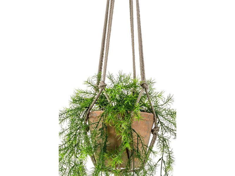 Kunst hangplant Asparagus 80cm in pot