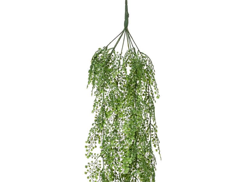Kunst hangplant Adianthum  105 cm groen