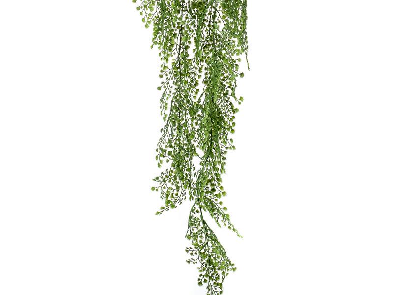 Kunst hangplant Adianthum  105cm groen