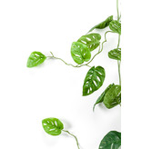Kunst hangplant Monstera monkey garland 120 cm groen