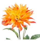 Kunstbloem Dahlia 60 cm oranje
