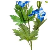 Kunstbloem Delphinium 77 cm blauw