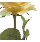 Kunstroos Simone geel 45 cm