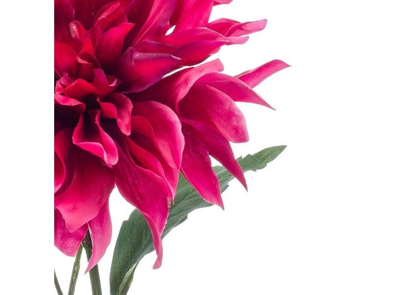 Kunstbloem Dahlia fuchsia 60 cm