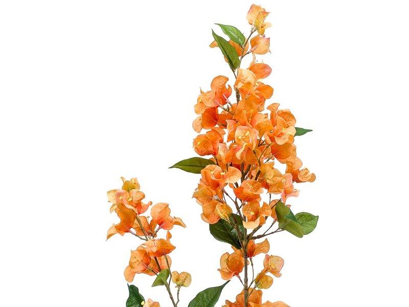 Kunstbloem Bougainvillea geel/oranje 117 cm