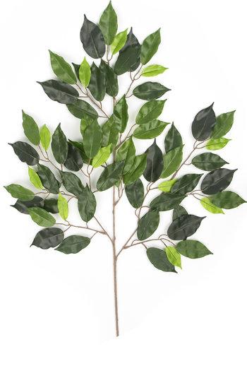 Kunstblad Ficus Folia 55 cm groen brandvertragend