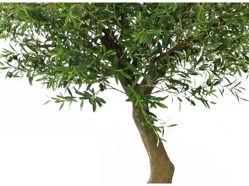 Kunst olijfboom 270 cm met olijven