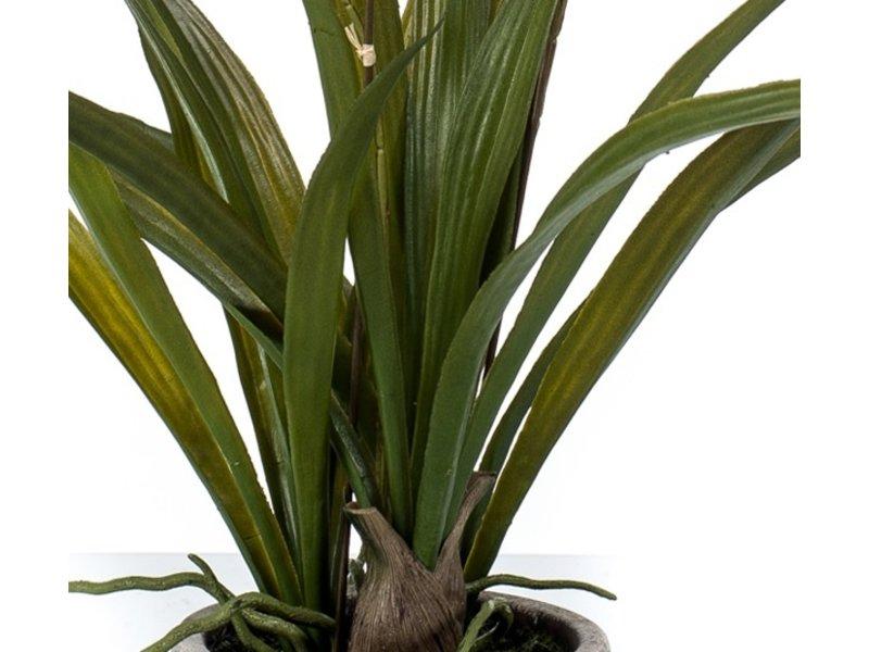 Kunstbloem Tijgerorchidee 45 cm in pot