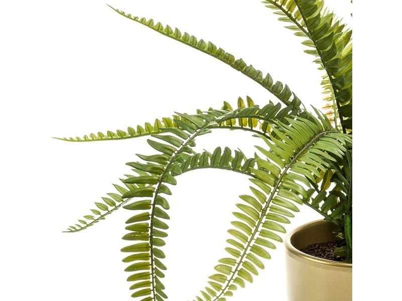 Kunstplant Varen 58 cm in gouden pot