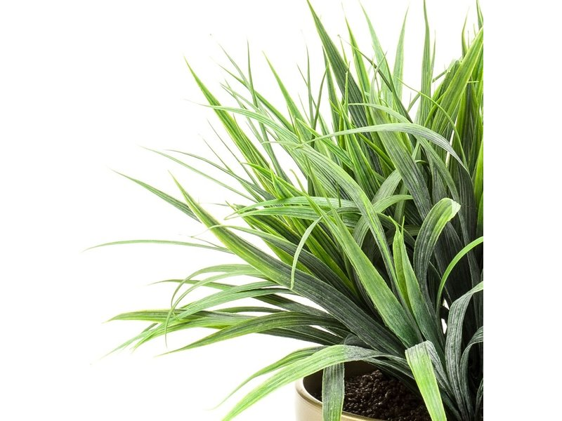 Kunstplant Grass 33 cm in gouden pot