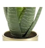 Kunstplant Aloe Vera 33 cm in gouden pot