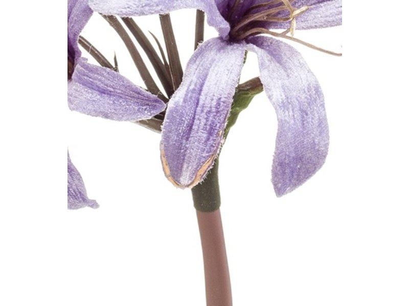 Kunstbloem Nerine 66 cm lila