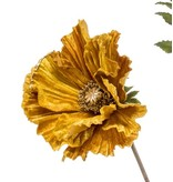 Kunstbloem Poppy 92 cm geel/oranje