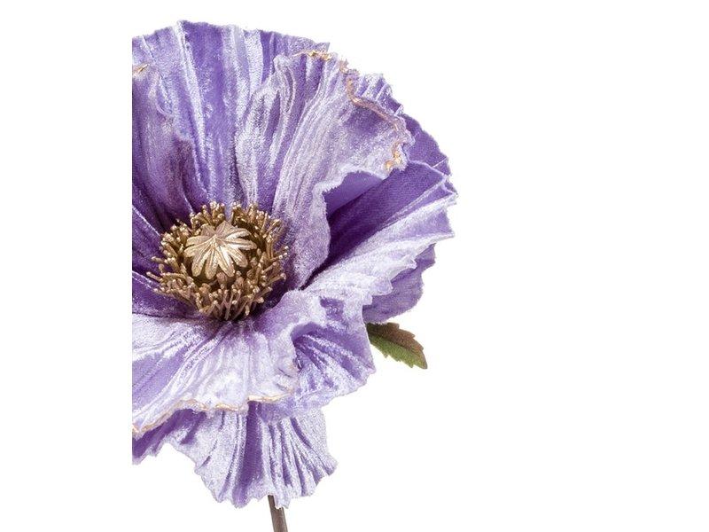 Kunstbloem Poppy 68 cm lila