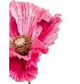 Kunstbloem Poppy 68 cm roze