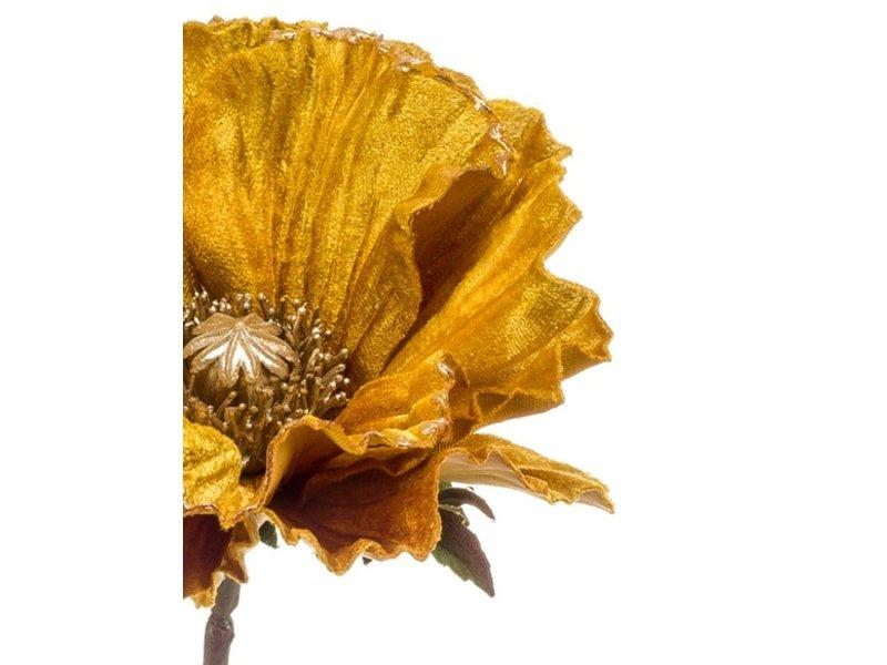 Kunstbloem Poppy 68 cm geel/oranje