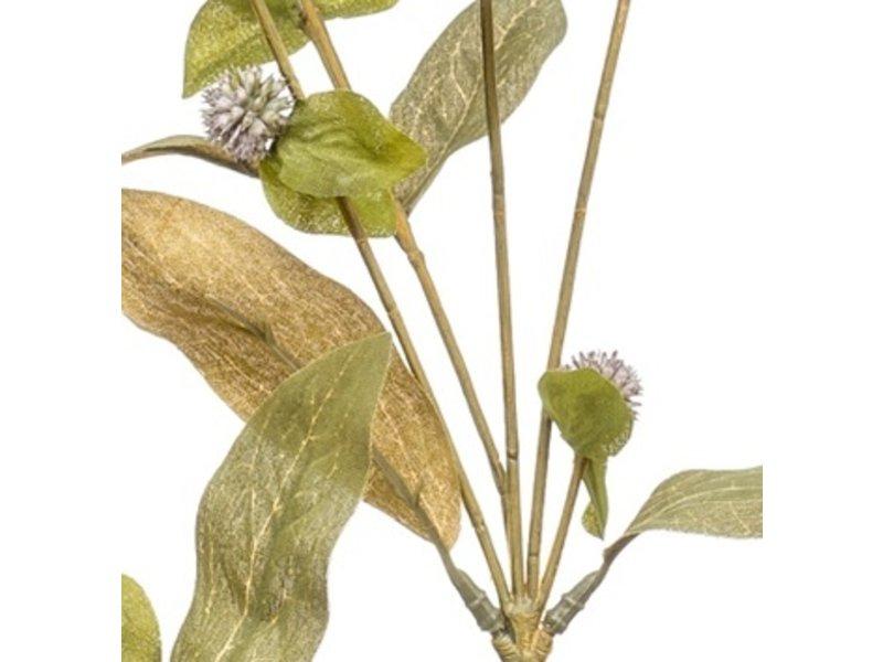 Kunstbloem Gomphrena 68 cm paars