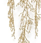 Kunst hangplant Rhipsalis 72 cm goud