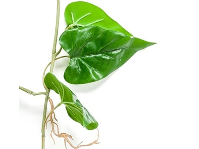 Kunst hangplant Anthurium 110 cm groen